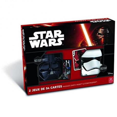 CARTAMUNDI Coffret 2 Masques Et Jeu 54 Cartes Star Wars