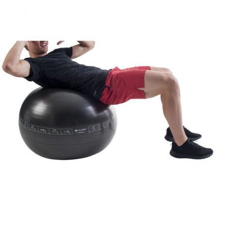 PURE2IMPROVE Ballon d'exercice - 65 cm - Fitness  - Noir