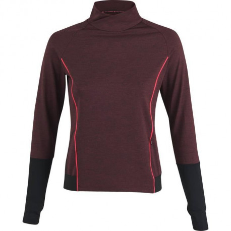 ATHLI-TECH T-shirt de running Eden - Femme - Rouge bordeaux