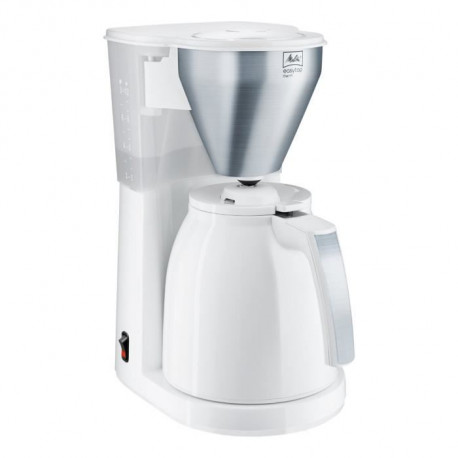 MELITTA 1010-07 Cafetiere filtre avec verseuse isotherme Easy Top Therm - Blanc