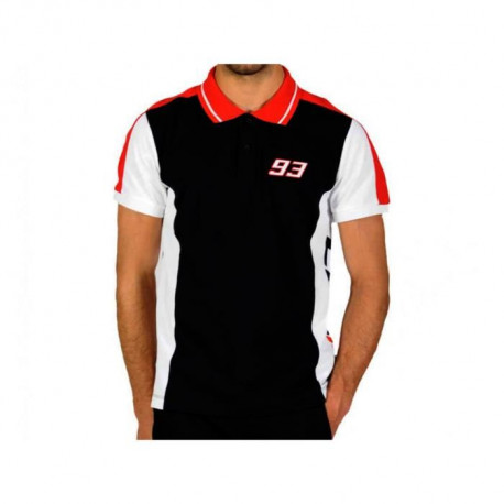 Polo MM93 Inserted - Noir - Marc Marquez
