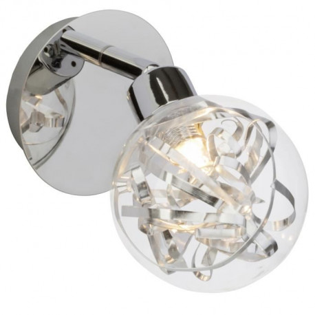 Applique spot LED a 1 lumiere en verre avec ruban Cinta G9 3,5W chrome