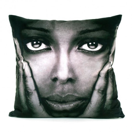 MARLENE BACKER Coussin déhoussable Saba 45x45 cm gris