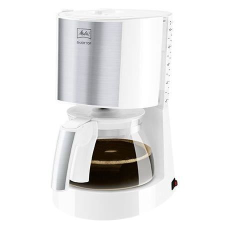 MELITTA 1017-03 Cafetiere filtre Enjoy Top Glass - Blanc