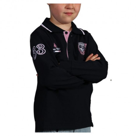 FCGB Polo laurier 33 Manches longues - Junior - Marine / Blanc / Rose