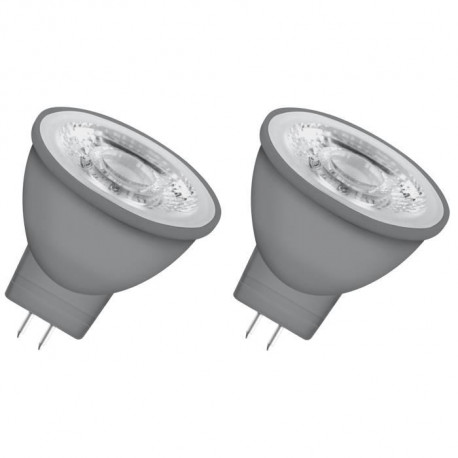 OSRAM Lot de 2 Ampoules spot LED MR11 GU4 2,9 W équivalent a 20 W blanc chaud