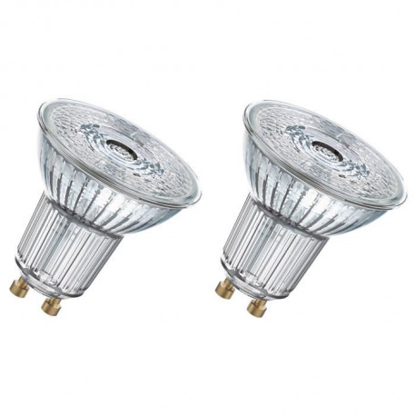 OSRAM Lot de 2 Ampoules spot LED PAR16 GU10 3,1 W équivalent a 35 W blanc froid dimmable