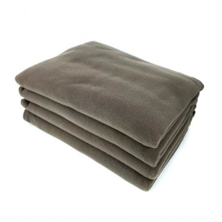 Couverture polaire Polfirst - 100% polyester 250g/m² - Taupe - 210 x 230 cm