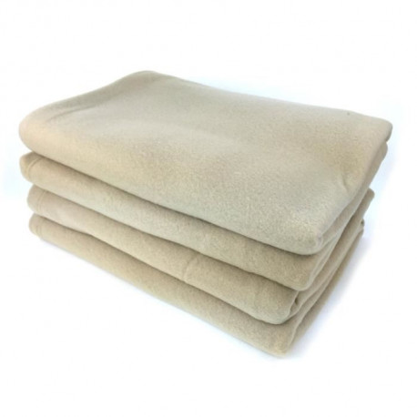 Couverture polaire Polfirst - 100% polyester 250g/m² - Sable - 210 x 230 cm
