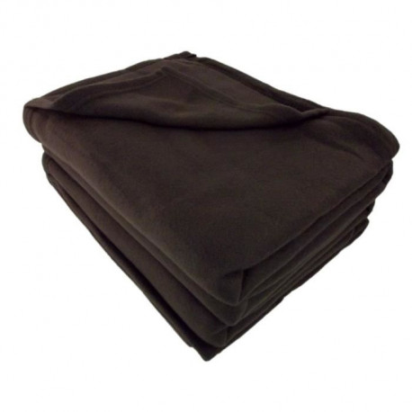 Couverture polaire Polfirst - 100% polyester 250g/m² - Chocolat - 210 x 230 cm