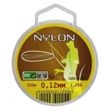PECH'CONCEPT Nylon Transparent 12/100 250M