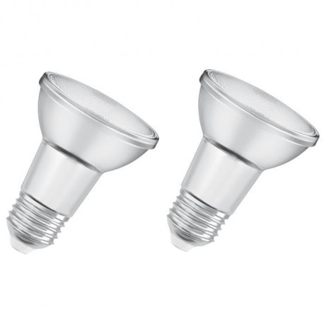 OSRAM Lot de 2 Ampoules spot LED PAR20 E27 5 W équivalent a 50 W blanc chaud dimmable
