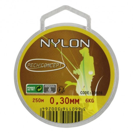 PECH'CONCEPT Nylon Transparent 30/100 250M