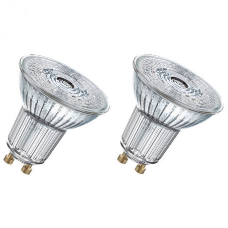 OSRAM Lot de 2 Ampoules spot LED PAR16 GU10 4,6 W équivalent a 50 W blanc chaud dimmable
