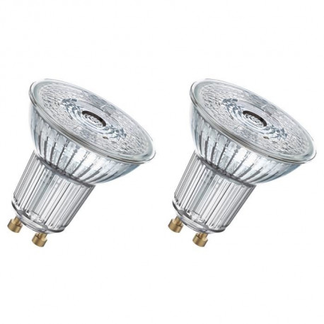 OSRAM Lot de 2 Ampoules spot LED PAR16 GU10 4,6 W équivalent a 50 W blanc froid dimmable