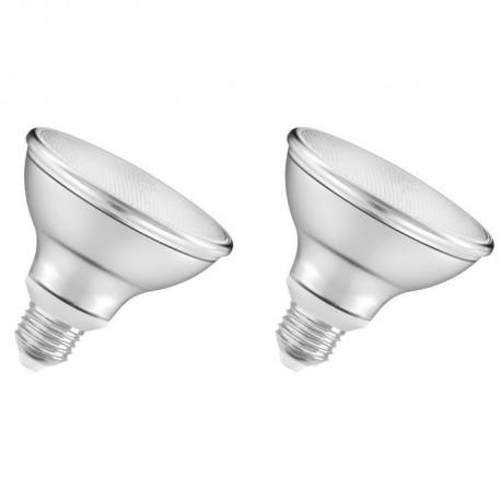 OSRAM Lot de 2 Ampoules spot LED PAR30 E27 8 W équivalent a 75 W blanc chaud dimmable