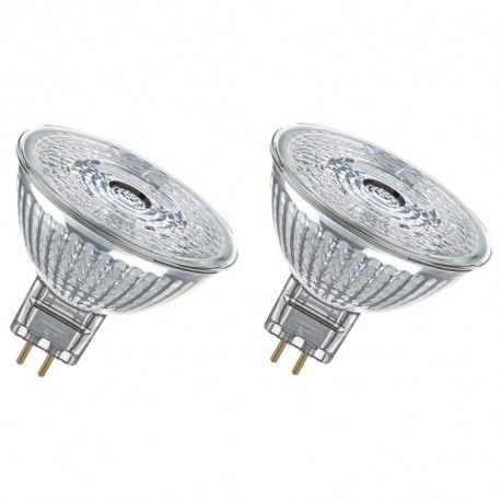 OSRAM Lot de 2 Ampoules spot LED MR16 GU5,3 5 W équivalent a 35 W blanc froid dimmable