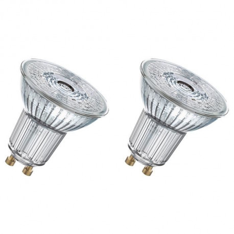 OSRAM Lot de 2 Ampoules spot LED PAR16 GU10 7,2 W équivalent a 80 W blanc chaud dimmable