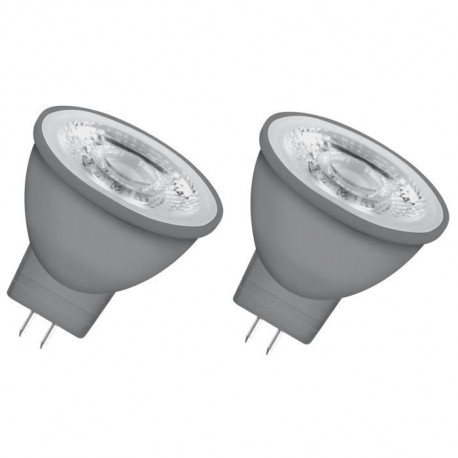 OSRAM Lot de 2 Ampoules spot LED MR11 GU4 3,3 W équivalent a 20 W blanc chaud dimmable