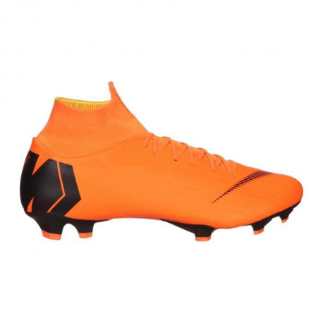 NIKE Chaussures de football Mercurial Superfly 6 Pro Fg - Mixte - Orange