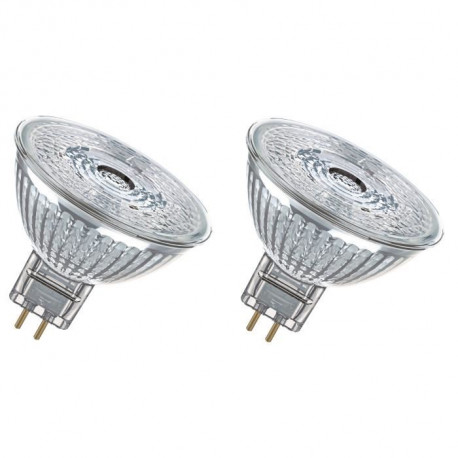 OSRAM Lot de 2 Ampoules spot LED MR16 GU5,3 2,9 W équivalent a 20 W blanc chaud