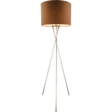 GLOBO LIGHTING Lampadaire mat - Tissu marron - Interrupteur - Ø 62 x H 160 cm - 60W