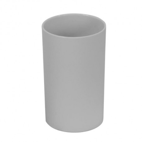 FRANDIS Gobelet rond en plastique Rubber Softy gris en display