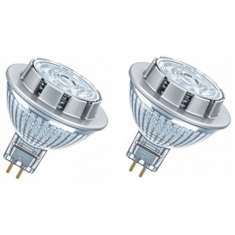 OSRAM Lot de 2 Ampoules spot LED MR16 GU5,3 7,2 W équivalent a 50 W blanc froid