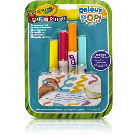CRAYOLA - Recharge Feutres x4 Colour Pop
