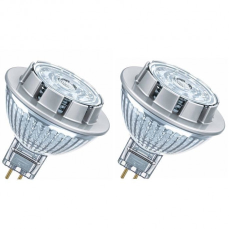 OSRAM Lot de 2 Ampoules spot LED MR16 GU5,3 7,8 W équivalent a 50 W blanc froid dimmable