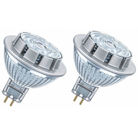 OSRAM Lot de 2 Ampoules spot LED MR16 GU5,3 7,2 W équivalent a 50 W blanc chaud