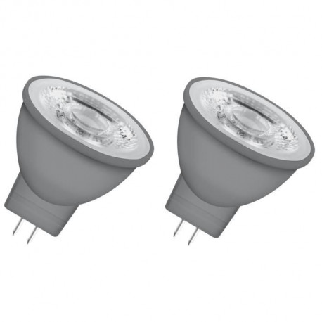 OSRAM Lot de 2 Ampoules spot LED MR11 GU4 3,7 W équivalent a 35 W blanc chaud
