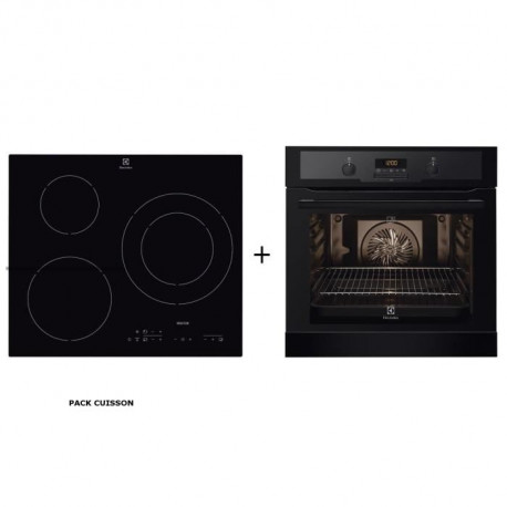 Pack cuisson ELECTROLUX : Four électrique encastrable + Table de cuisson induction
