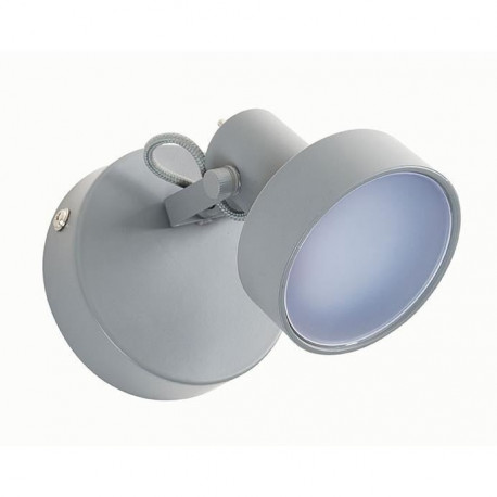 STOCKHOLM Spot 1 lumiere LED L9,5 x H10 cm Ciment