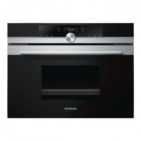 SIEMENS CD634GBS1 Four vapeur fullSteam encastrable - 38 L - 1,9 kW - L45 cm - Inox anti trace