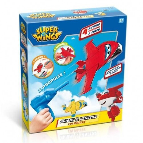 SUPER WINGS Avion & Lanceur