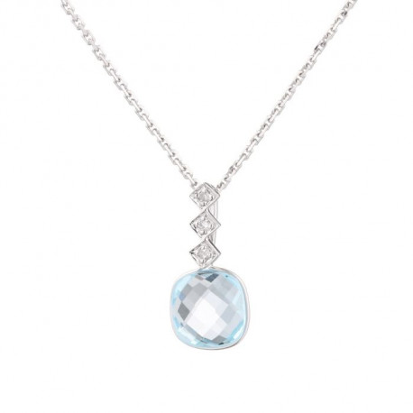 OR & CARAT Collier Or 375° et Diamant
