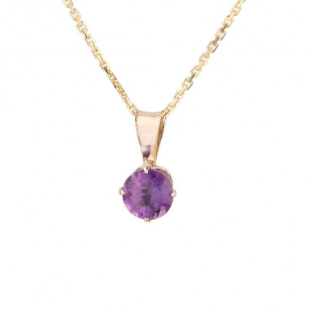 OR ECLAT  Collier Or 375° Améthyste Femme