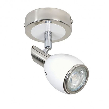 FIFTIES Spot 1 lumiere LED L6 x H13 cm Blanc