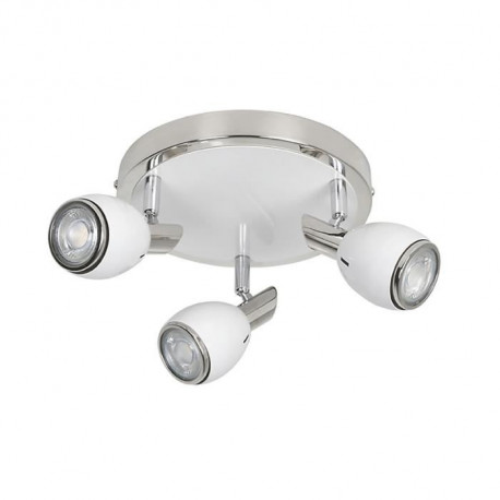FIFTIES Spot 3 lumieres LED H27 cm Blanc