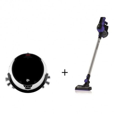 DIRT DEVIL M611 FUSION Aspirateur robot + DIRT DEVIL DD698-2 CAVALIER Aspirateur balai et a main lithium