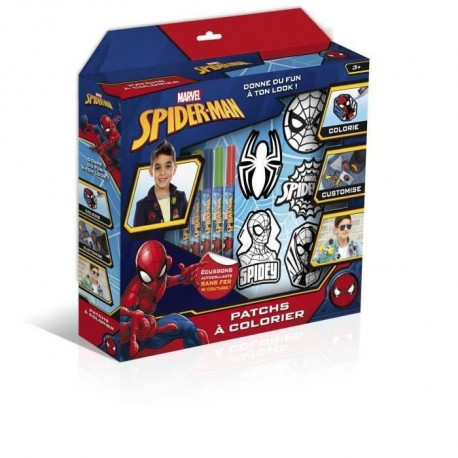 CANAL TOYS - SPIDERMAN - Patches a colorier - Loisirs Créatifs