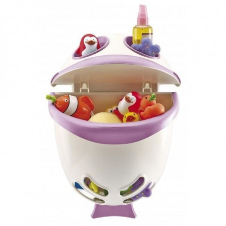 THERMOBABY Range-Jouets Bubble Fish - Rose Orchidée - Blanc Muguet