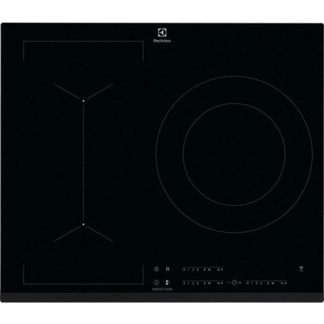 ELECTROLUX LIV633 - Table de cuisson induction - 3 zones - 7350 W - L 59 x P 52 cm - Revetement verre - Noir