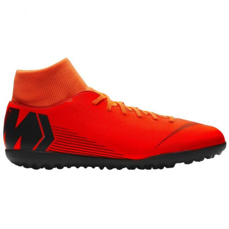 NIKE Chaussures de football Mercurial Superfly 6 Club Tf - Mixte - Orange