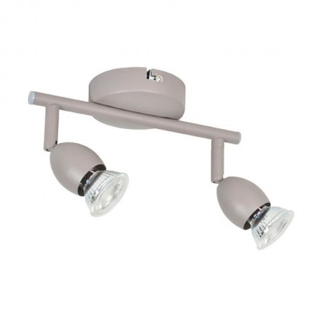 MELY Spot 2 lumieres LED L22,5 x H13 cm Taupe