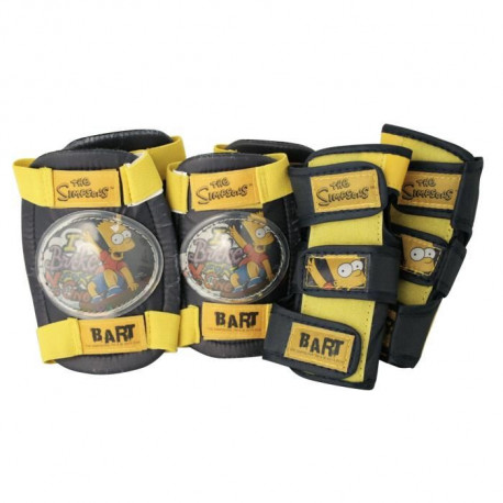 BART SIMPSONS Protections coudieres + genouilleres Bart