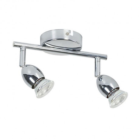 MELY Spot 2 lumieres LED L22,5 x H13 cm Chrome