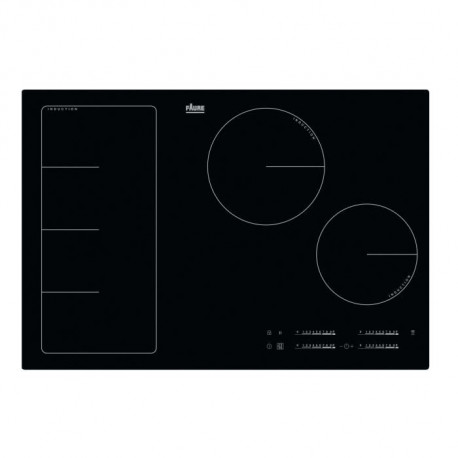 FAURE FIF8471CB-Table de cuisson induction-4 zones-7350 W-L 78 x P 52 cm-Revetement verre-Noir
