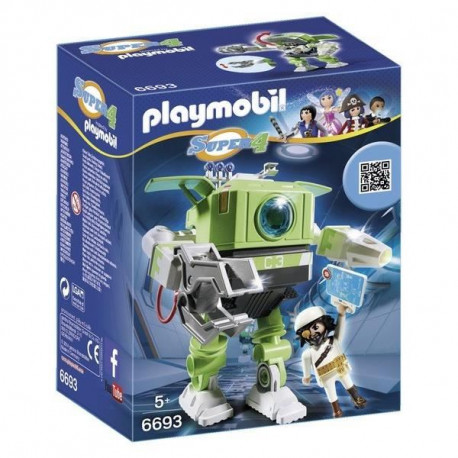 PLAYMOBIL 6693 - Super 4 - Robot Cleano